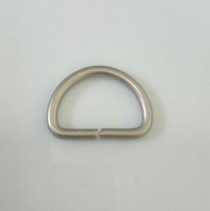 画像1: 真鍮Dカン D-4  18mm/2.5mm線  シルバーケシ 5個セット (1)