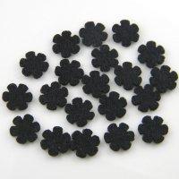 画像1: チカラボタン フェルト布 花型 20枚入り 白/黒